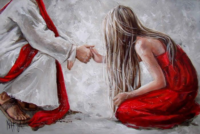 Maria Magdalena Oosthuizen | Christian paintings, Jesus painting ...