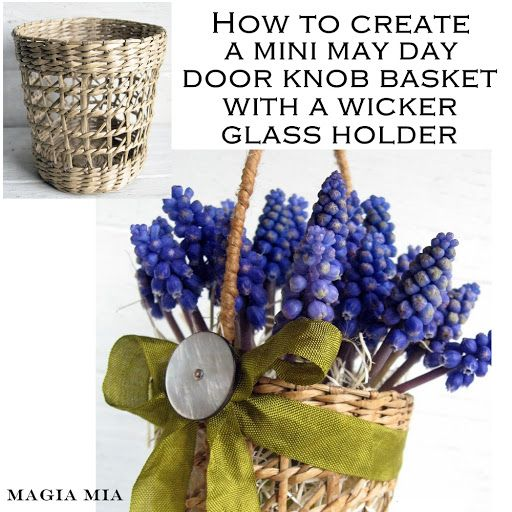 Magia Mia: Morphing Into A Spring Basket - adding a handle to a basket