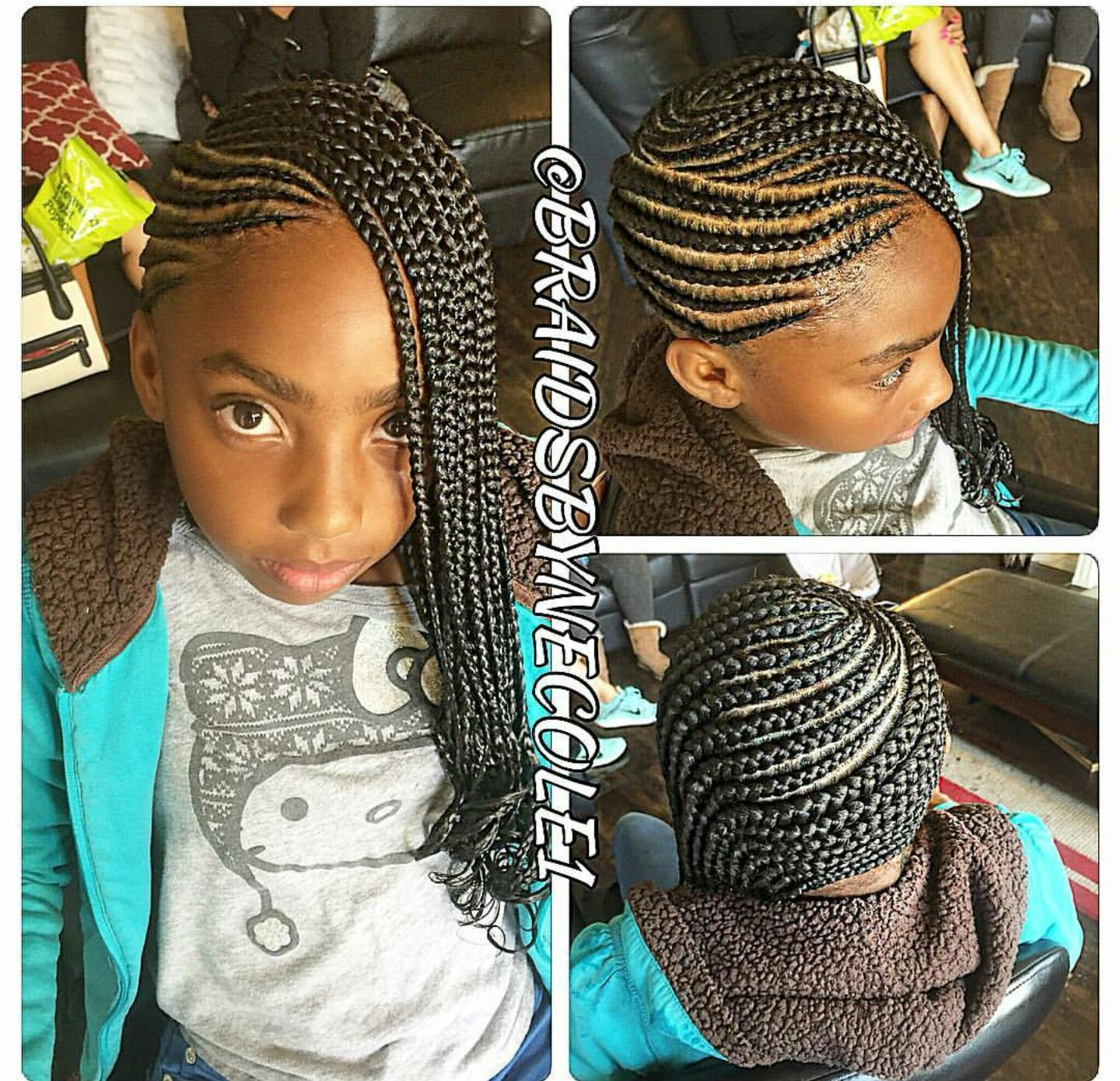 Pin by Maurine McKeown on black hair styles | Kids braided ...