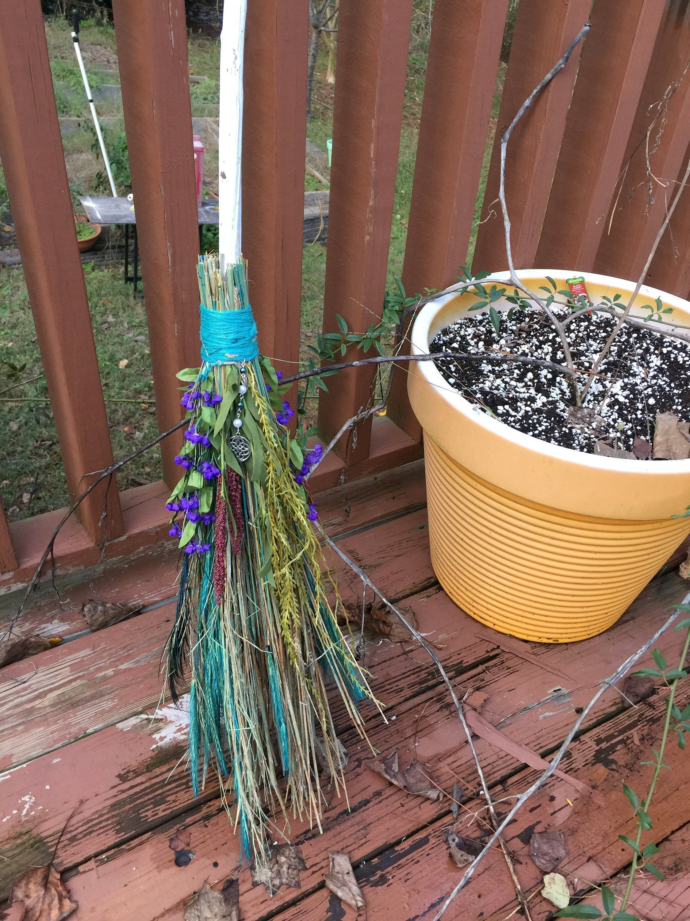 Witch Broom Handfasting Besom Spiritual Broom Seasonal Pagan Rituals Witch Broom Wedding Broom
