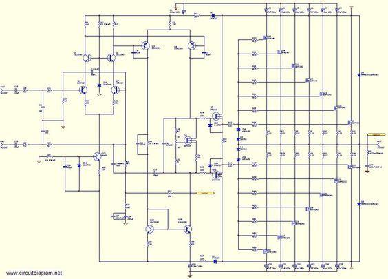 800w High Power Mosfet Amplifier Schematic Diagram Schematic