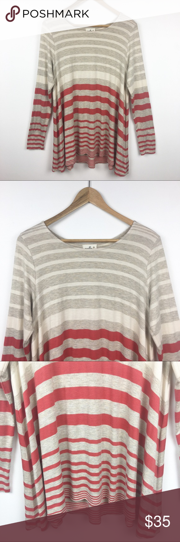 92210fb01a3 Anthropologie Puella Top Tunic Darcy Swing M This is an Anthropologie  Puella Darcy swing top tunic. Crew neck. Long sleeves. Orange ivory/cream.
