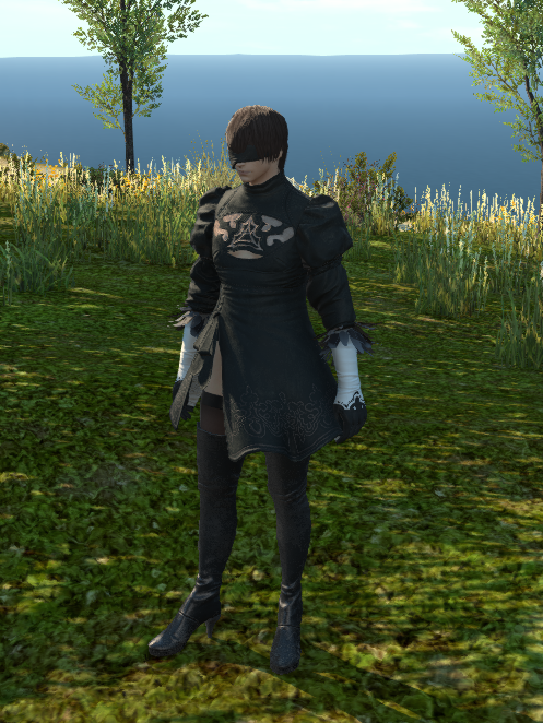 Ffxiv 2020 Halloween spoiler 2b outfit on male character ffxiv in 2020   Halloween
