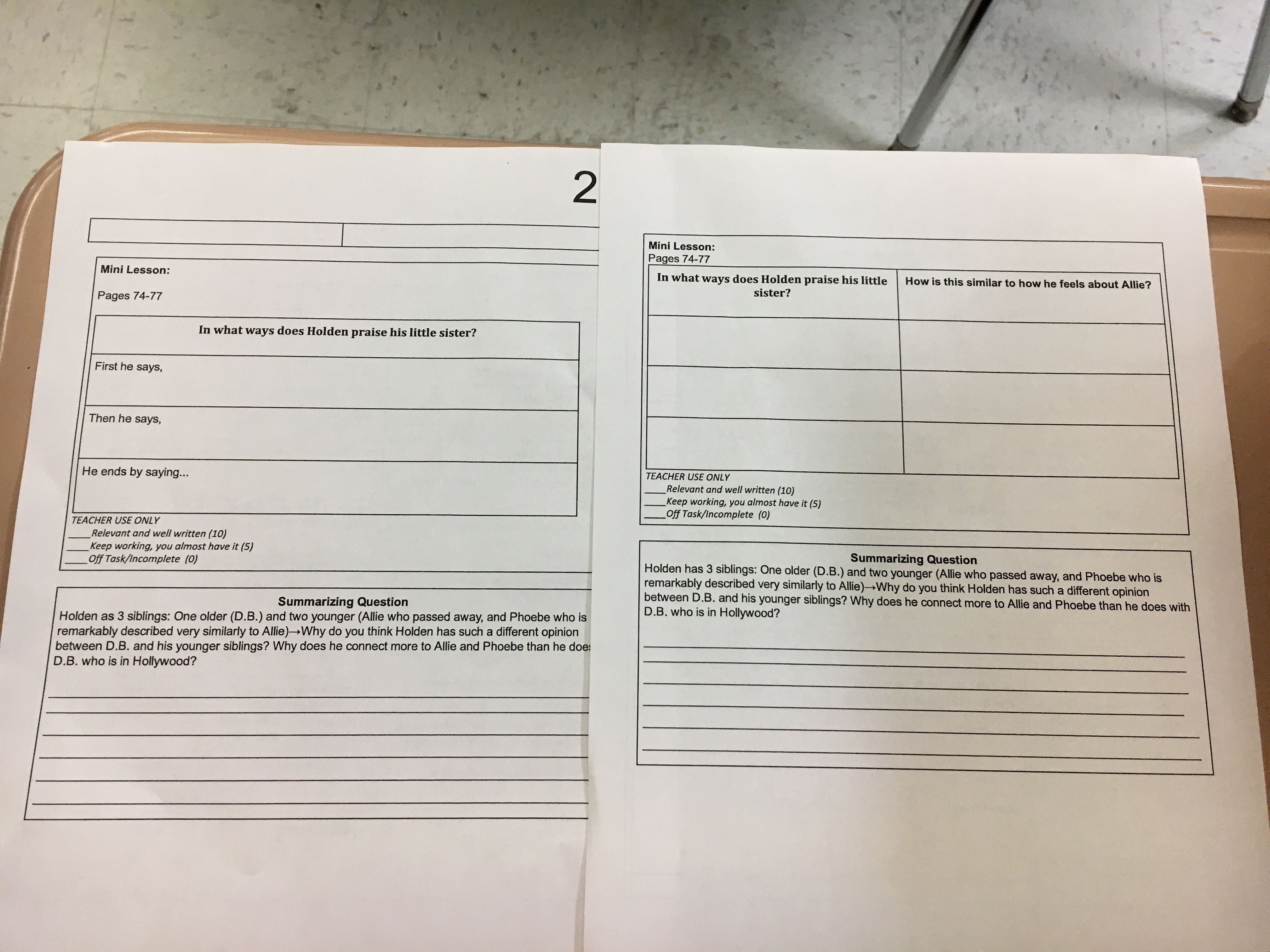9th Grade English Differentiation Worksheet Castillo