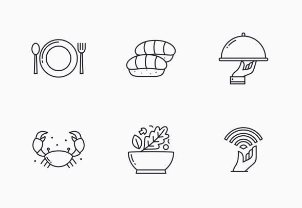 Restaurant Icons By Irfan Widiyanto Restaurant Icon Restaurant Icon