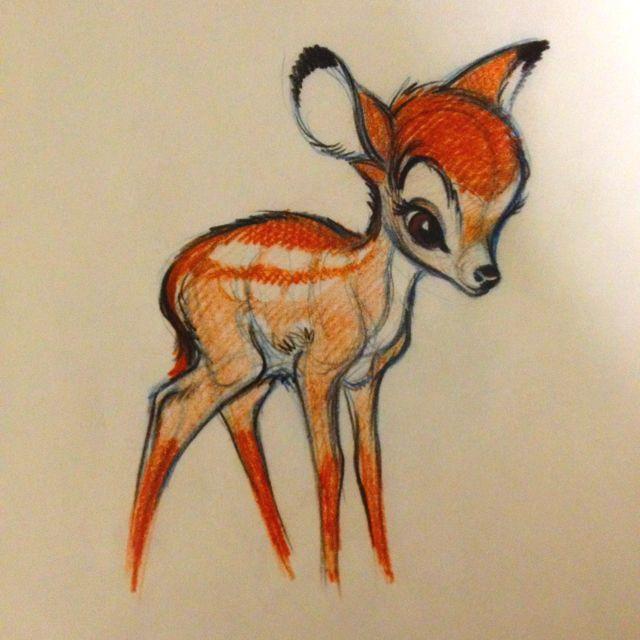 Bambi - Marc Davis drawing   Find more at https://www.facebook.com/CharacterDesignReferences