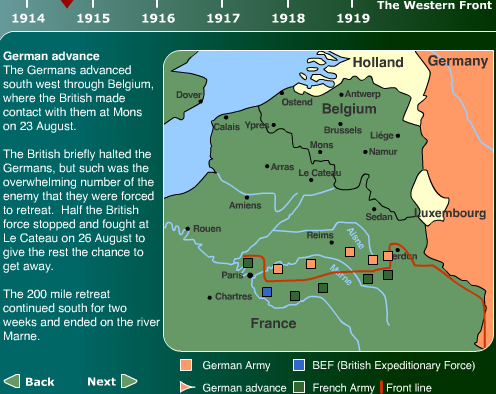 map of major battles in ww1 - Google Search Major battles of the ...