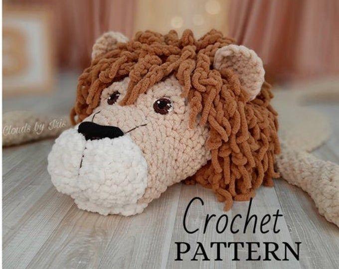 Crochet Mat Pattern The Lamb Mat Gift Idea Etsy Arm