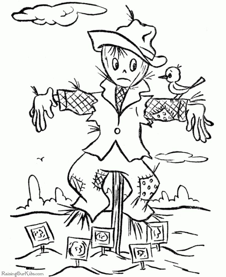 Halloween Scarecrow Coloring Pages 001 Fall Coloring Pages Thanksgiving Coloring Pages Coloring Pages