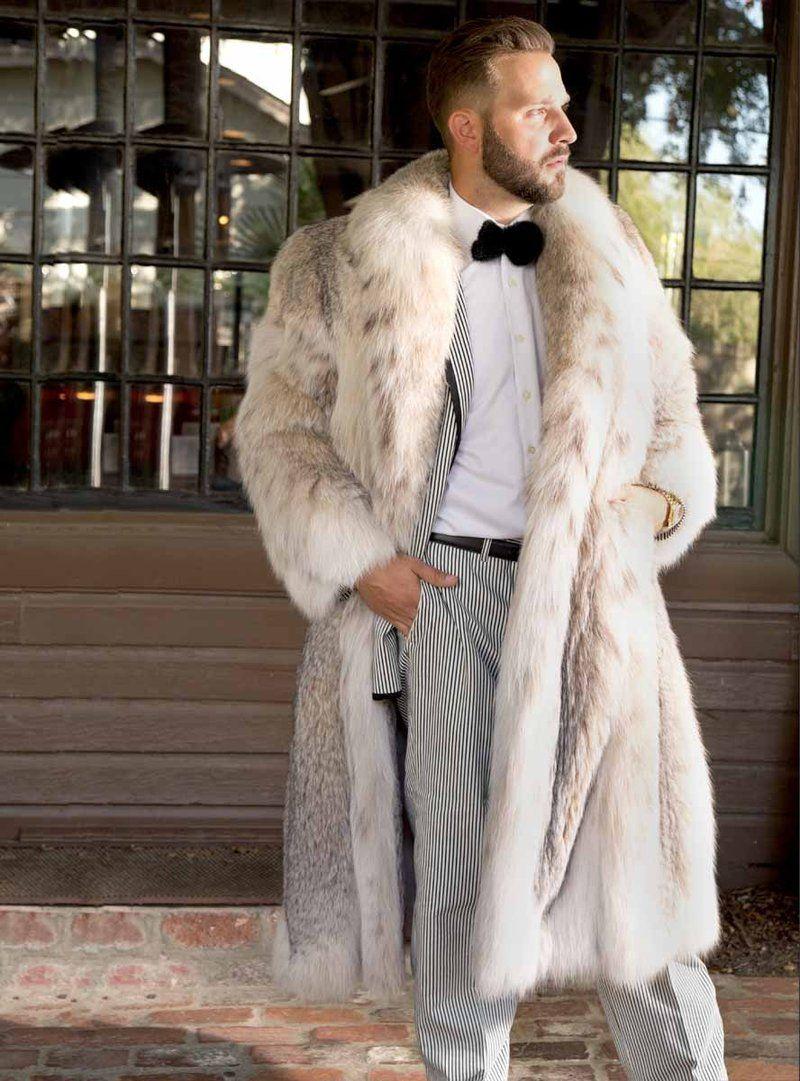 Men S Lynx Fur Coat Mens Fur Coat Casual Faux Fur Coat Casual Faux Fur [ 1081 x 800 Pixel ]