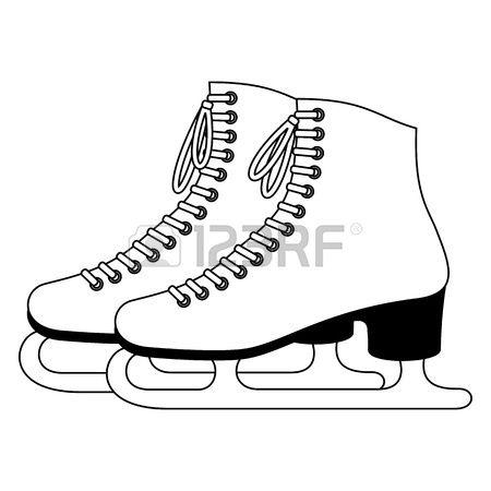 Skating Stock Vector Illustration And Royalty Free Skating Clipart Clipart Black And White Skate Converse Chuck Taylor High Top Sneaker