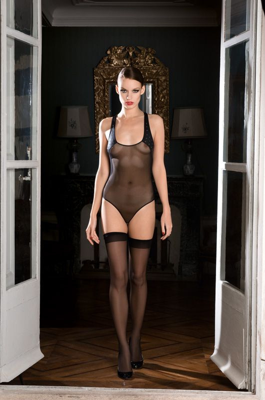 6d14f4ef5f0 Black Sheer by Maison Close - Nuit Blanche Body. Chic Lingerie made in Paris  ...