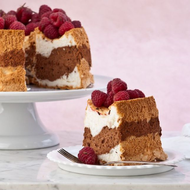 Guess what? This Black and White Angel Food Cake is gluten-free.