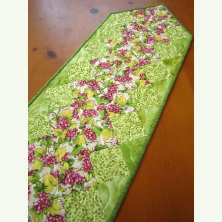 Quilted Table Runner | Patchwork Mountain