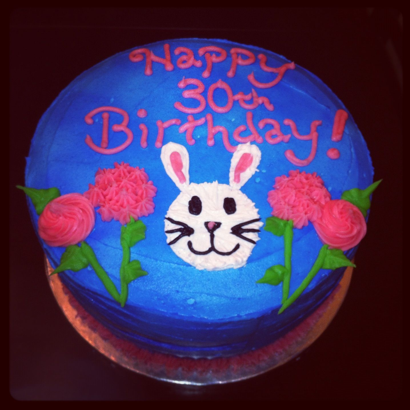Blue bunny birthday cake Bunny cake Cake by Bella Baby Cakes My