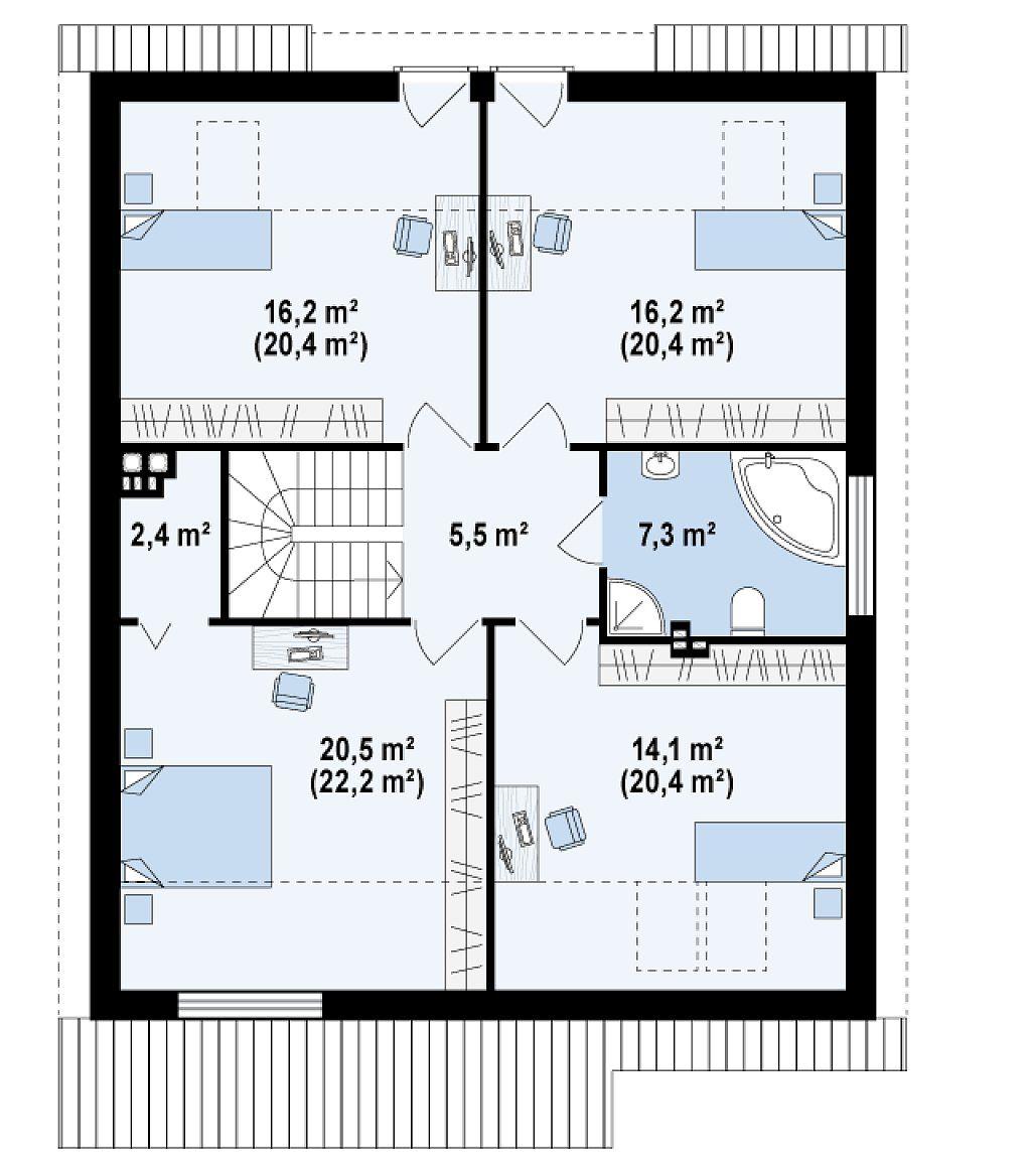 plano casa 2 pisos 4 dormitorios - Buscar con Google ...