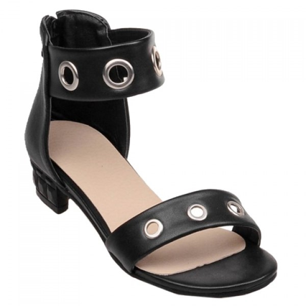 34.86$  Buy now - http://di157.justgood.pw/go.php?t=177031208 - Sweet Ankle-Wrap and Chunky Heel Design Women's Sandals