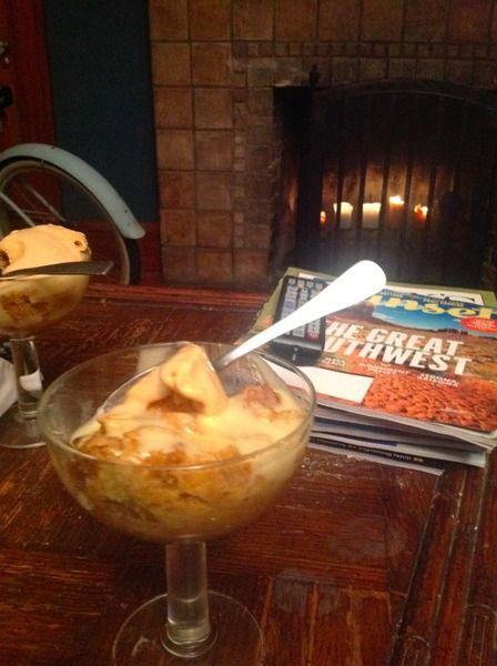 Pumpkin Bread Pudding with Bourbon Sauce