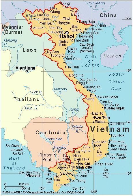 Map of vietnam america knee deep in nam pinterest vietnam map of vietnam sciox Image collections