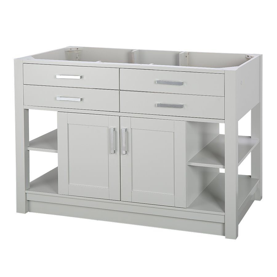shop allen roth chanceport specialty grey transitional on lowes vanity id=55080
