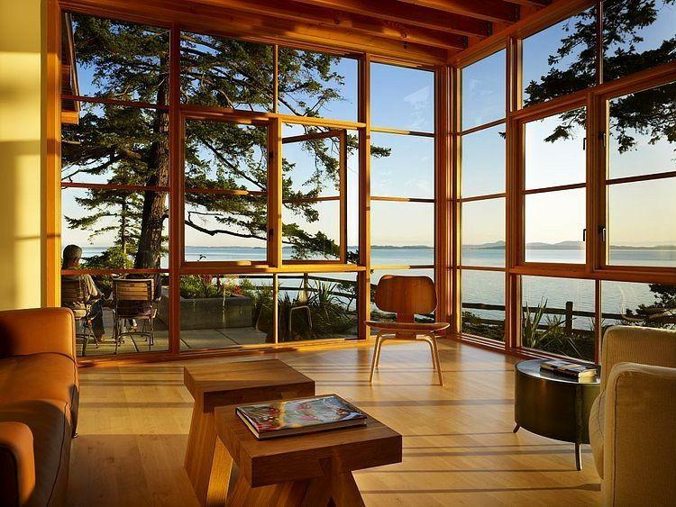 Maison en bois magnifique avec baie vitrée Maisons de rêve en Bois