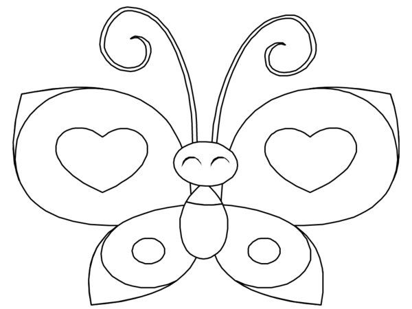 Heart Butterfly Coloring Pages Picture 17 | Rovarok, lepkék/Bugs ...