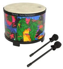 Remo Kids Percussion, Floor Tom,10 Diameter with Mallet, Rain Forest Fabric, New