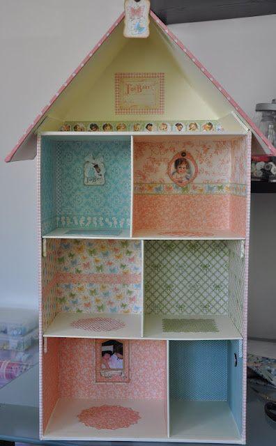 C mo hacer casa de mu ecas con cajas de zapatos casas - Manualidades con cajas de zapatos ...
