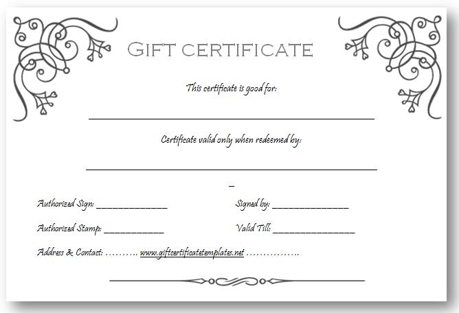 Printable Gift Voucher Template Trattorialeondoro