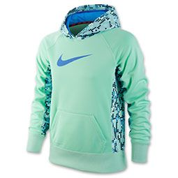 Girls' Nike KO 2.0 Pullover Hoodie | FinishLine.com | Arctic Green ...
