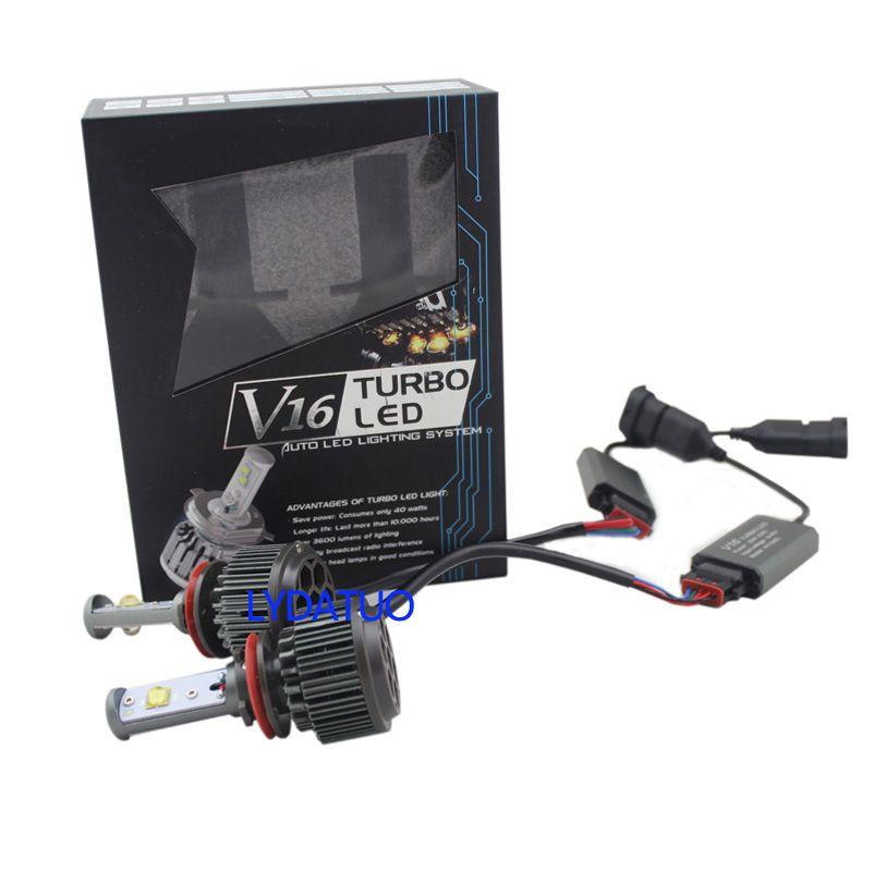LED Headlight Bulb conversion kit h1 h3 h7 h11 9005 9006 880