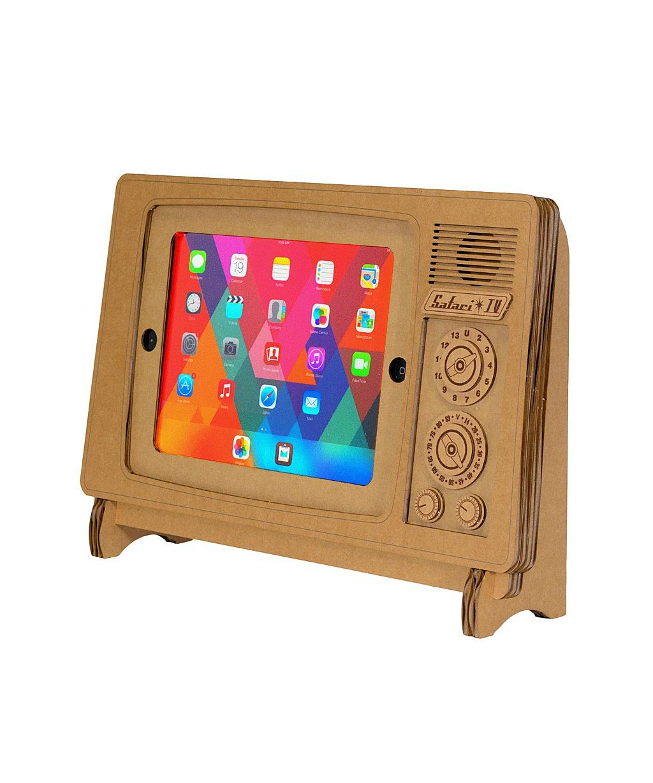 Cardboard safari safari tv ipad stand bluefly ipad