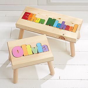 Superb Boys Personalized Name Puzzle Stool Small Gift Ideas Gmtry Best Dining Table And Chair Ideas Images Gmtryco