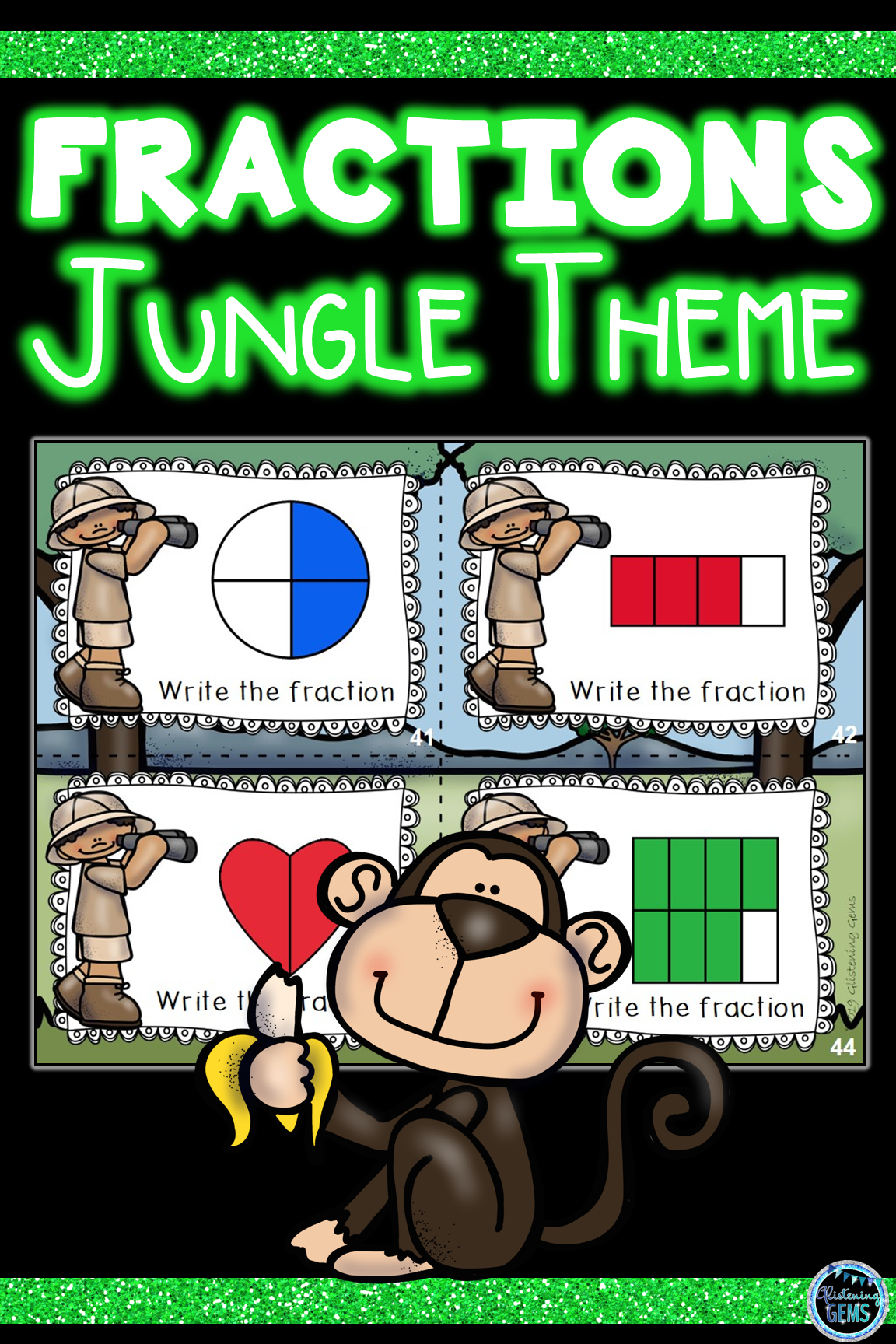 Fractions Second Grade Task Cards