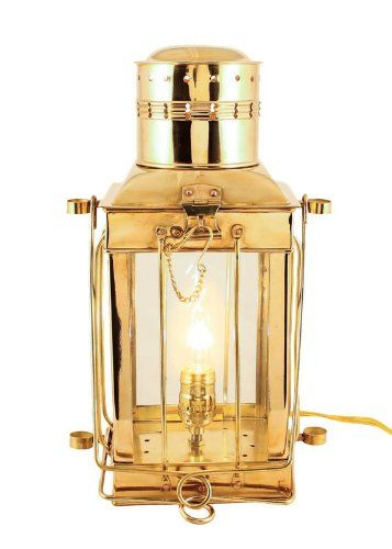 Electric Oil Lamps Brass Cargo Lamp 15 Electric Hurricane Lantern Read More At The Image Link It Is An Affiliat Oil Lamps Electric Lamp Nautical Lanterns