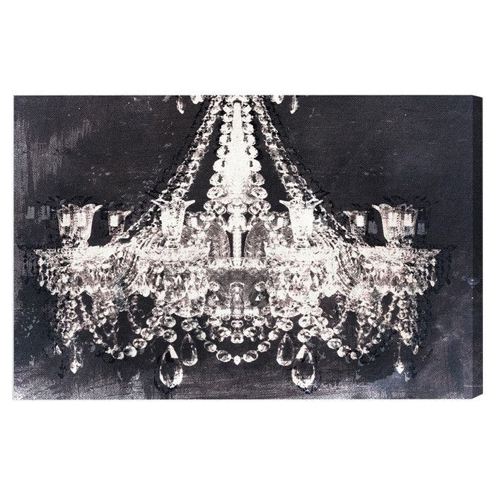 Beau Dramatic Chandelier Canvas Art