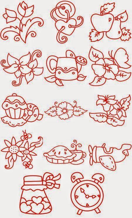 Patrones de Bordado, Lindos 14 diseños sencillos , Patrones para ...