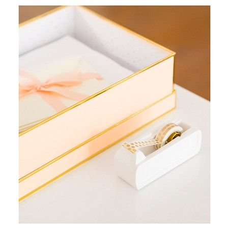 Sugar Paper® Storage Box - Blush and Gold : Target   Office ...