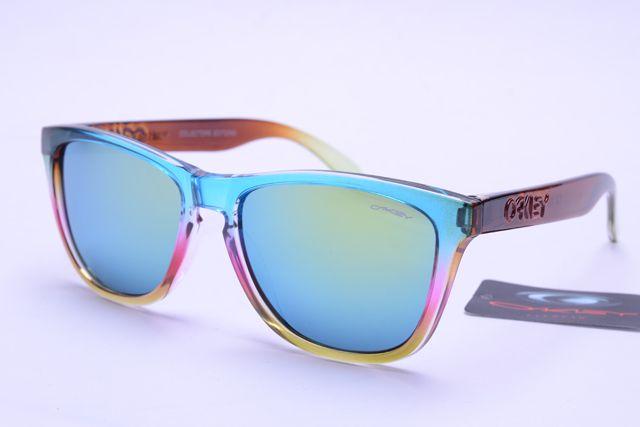 Oakley Frogskins Sunglasses Brown Blue Pink Orange Frame Colorful Lens 0377  [ok-1377]