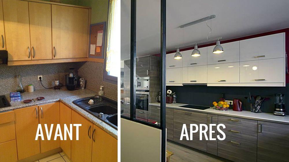 avant apr s cr er une cuisine ouverte pour moderniser son int rieur m6 antes e depois. Black Bedroom Furniture Sets. Home Design Ideas
