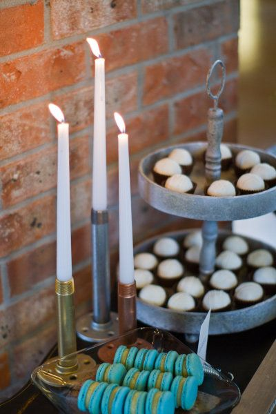 LOVE these industrial candle holders