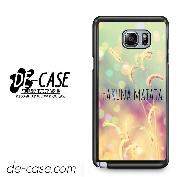 Hakuna Matata For Samsung Galaxy Note 5 Case Phone Case Gift Present YO