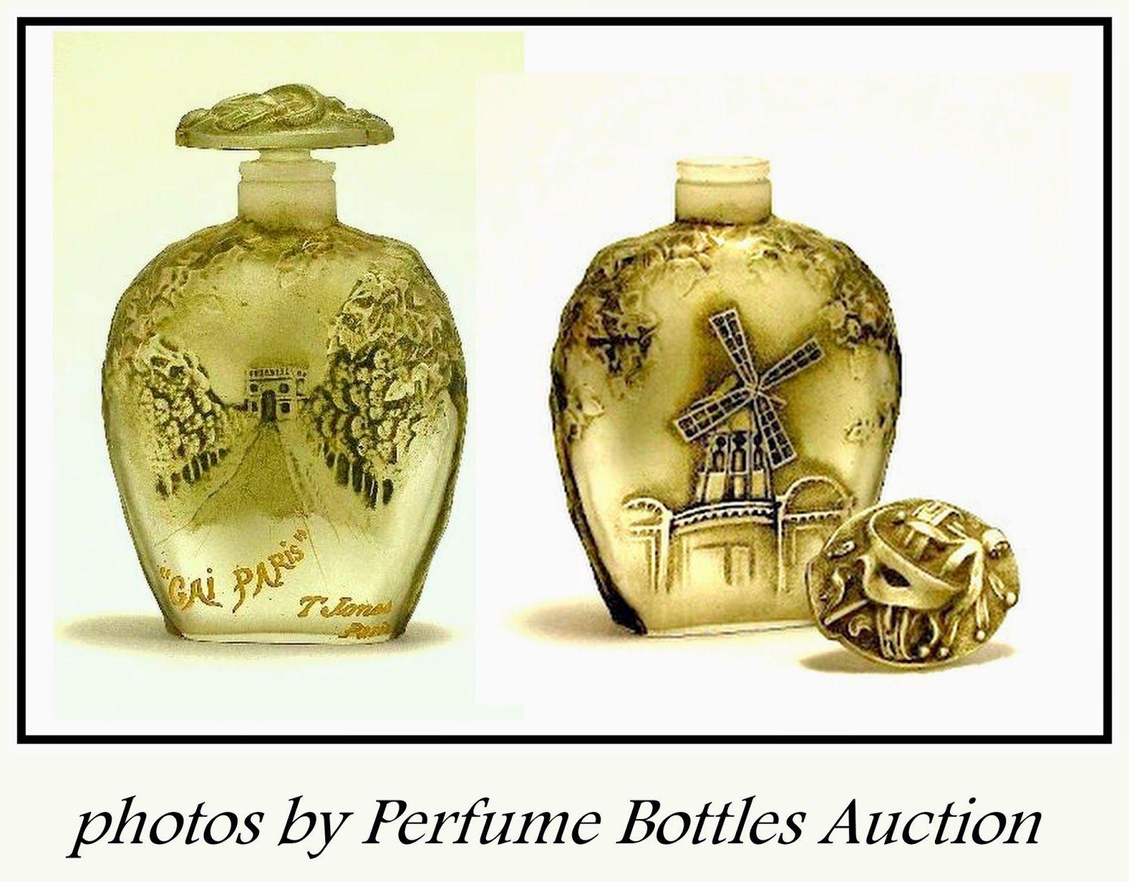 Perfume Name: Gai Paris  Perfume Company: T. Jones  Creation Date: 1912  Bottle Designer: Julien Viard  Bottle Manufacturer:unknown  Mea...