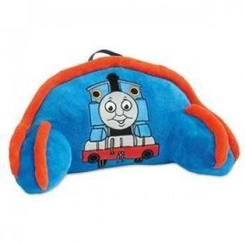 "Thomas the Tank Engine Pillow Bed Rest - with Handle for Toting 17"" x 14"" by Thomas the Train. $29.99. Spot clean only. Ages 3 & up. Limited Edition. Measures 17"" x 14"". Made of polyester fleece. Add some more comfort to your child's Thomas-themed bedroom with the Thomas Fleece Bed Rest Back Pillow! It's a cozy and supportive pillow rest with arms. Measures approximately 22"" x 13"" X 12"". Features a large embroidered image of Thomas and has a carrying handle. Great for bedt..."