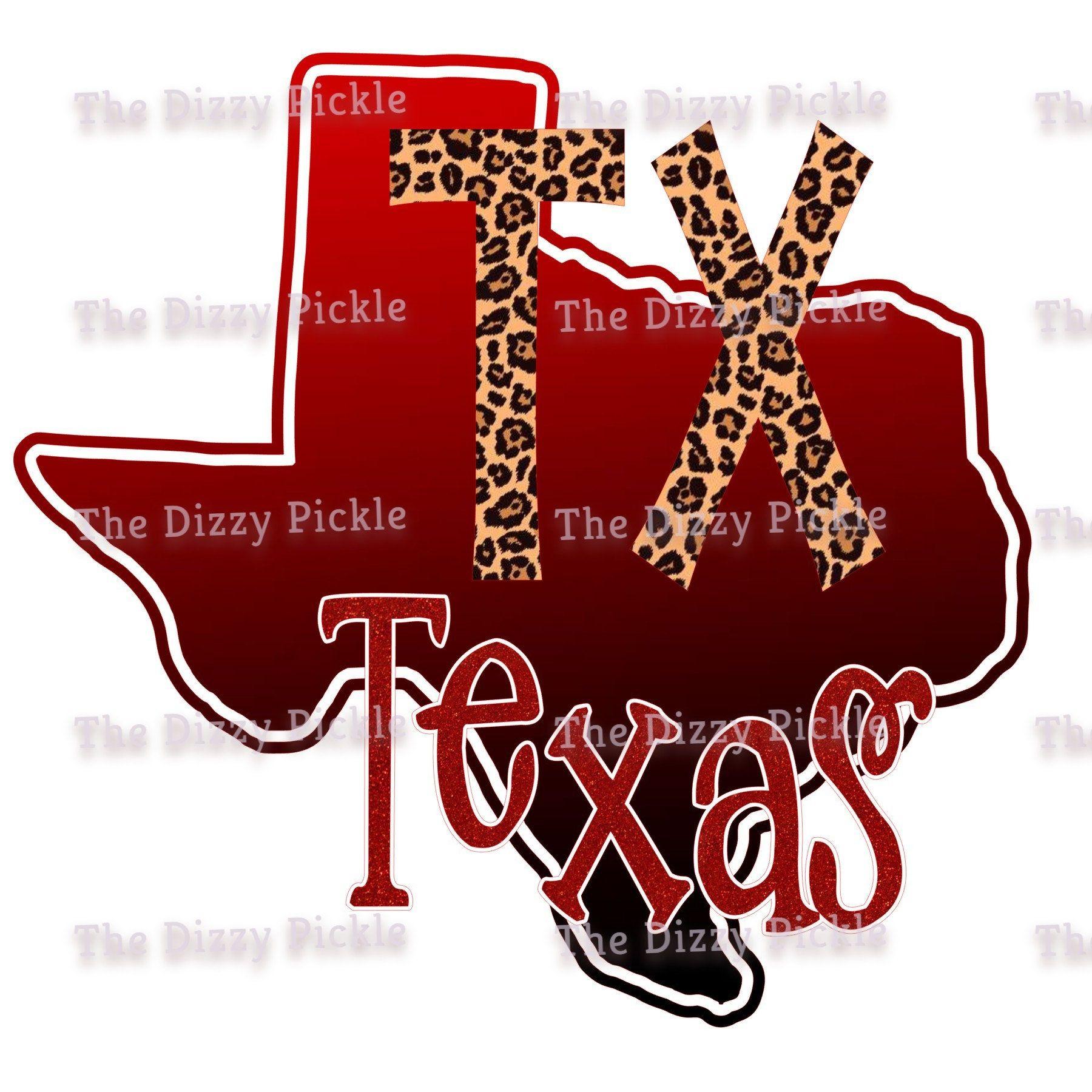 Sublimation Texas State Outline Leopard Print Design Png Etsy State Outline Print Design Sublime