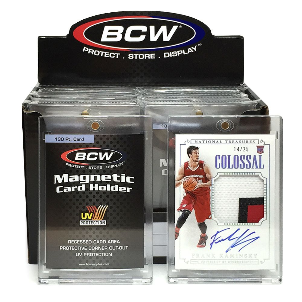 frank kaminsky card in bcw 130 pt magnetic card holders - Magnetic Card Holder