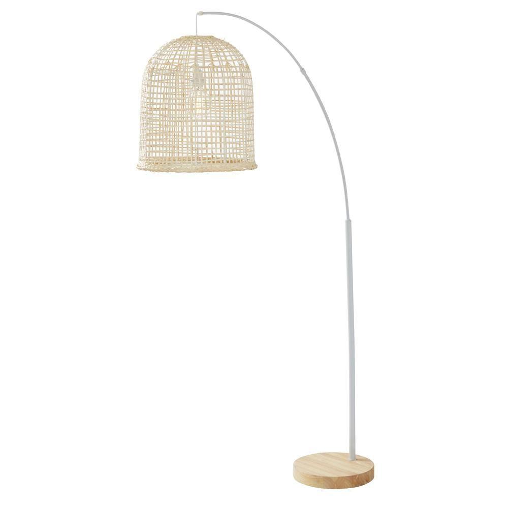 Navi Woven Floor Lamp Floor Lamp Lamp Rattan Floor Lamp