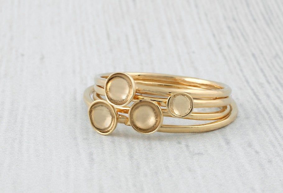 Thin Gold Ring,Edgy Gold Knuckle Ring Gold Minimalist Ring Stack Square Ring Wire Wrapped Ring Gold Stackable Ring Thin Stacking Ring