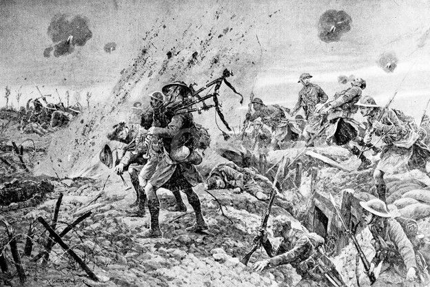 bagpipe photo's | WORLD WAR ONE BAGPIPE ILLUSTRATION