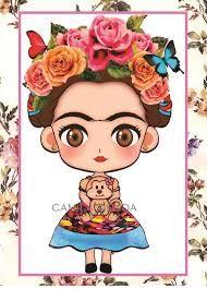 Resultado De Imagen Para Imagenes Para Sublimar Frida Kahlo Caricatura Frida Kahlo Dibujo Imagenes De Frida Kahlo
